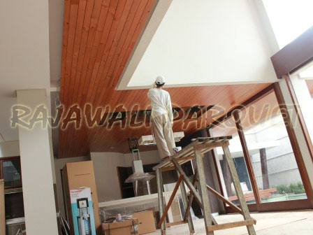 Harga Plafon Kayu Lambersering Murah Harga Lantai Kayu 2019