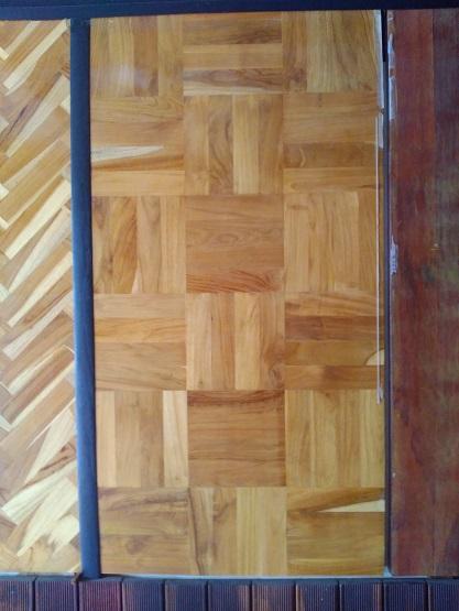 lantai kayu model mozaik