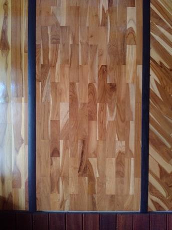 lantai kayu model susun bata