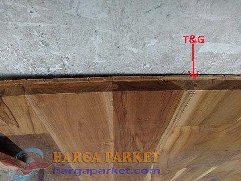 lantai kayu dengan pengunci T&G