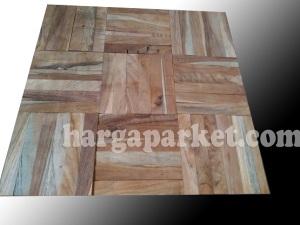 lantai kayu mozaik jati promo