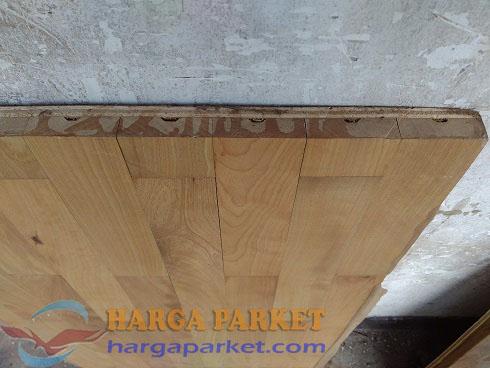 lantai kayu tanpa pengunci T&G
