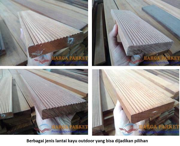 Jenis decking lantai kayu outdoor