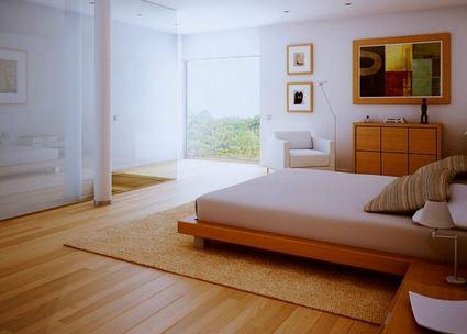 pemasangan lantai kayu kamar tidur