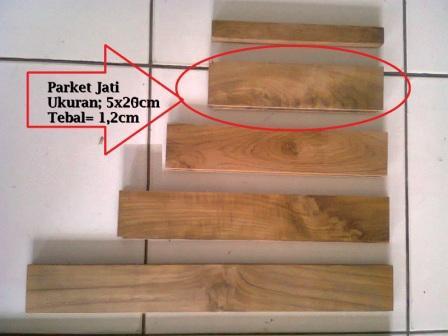 Ukuran parket kayu Jati Jakarta