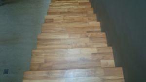 lantai kayu untuk, tangga